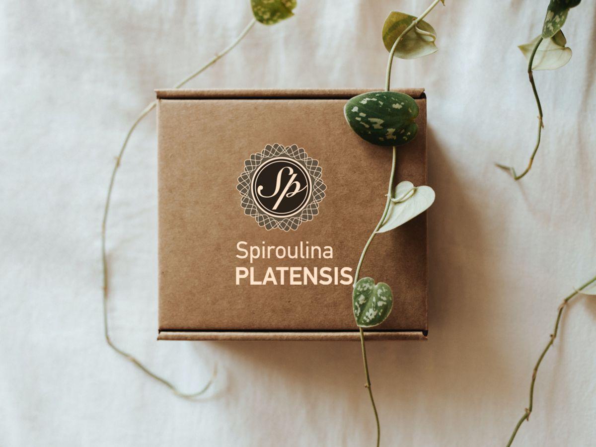 Κουτί δώρου που γράφει πάνω Spiroulina PLATENSIS
