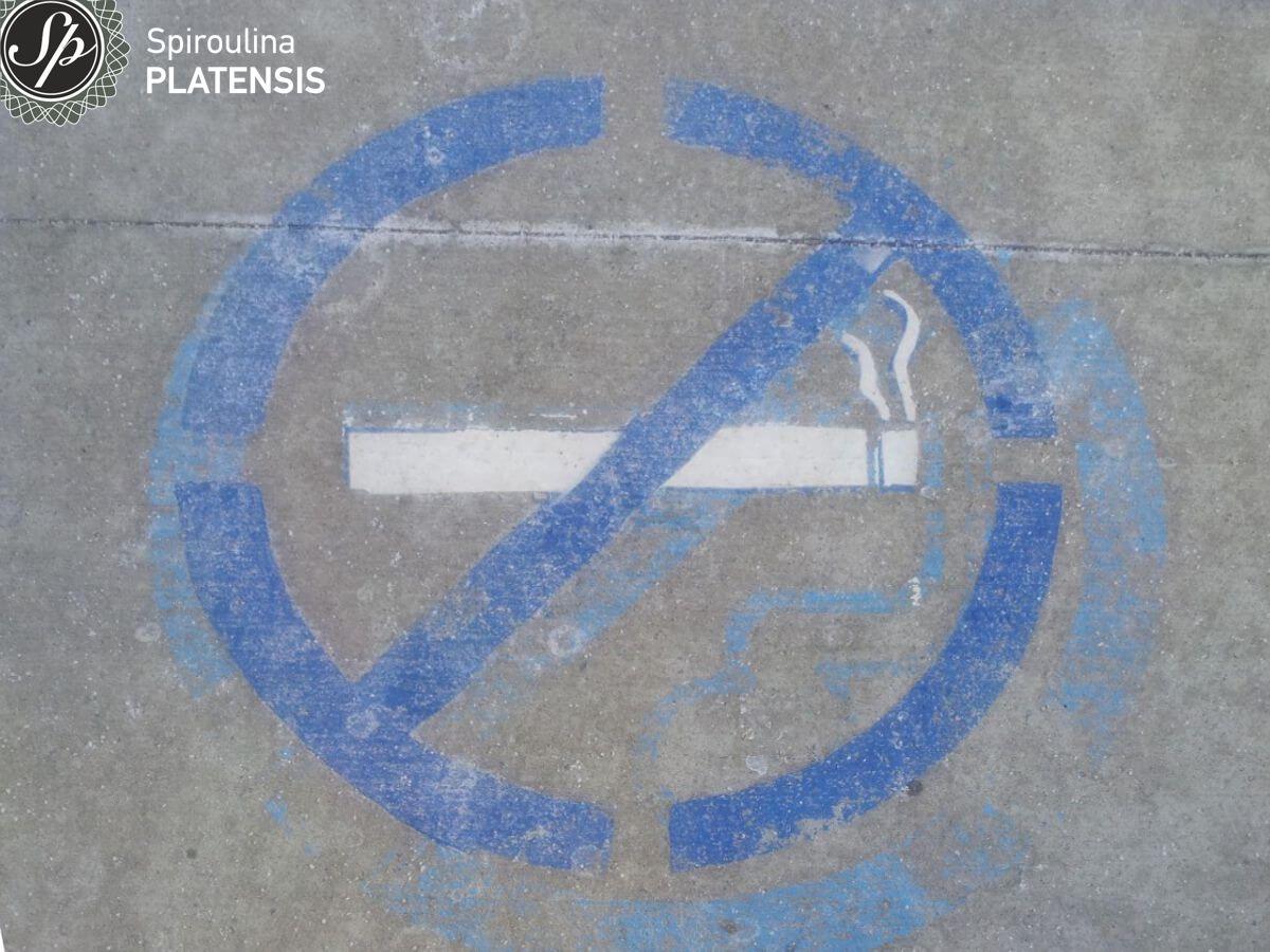 Εικόνα με το σύμβολο της απαγόρευσης του καπνίσματος