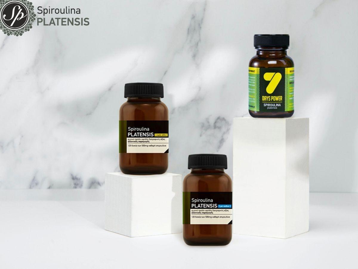 Τρεις συσκευασίες Spiroulina PLATENSIS