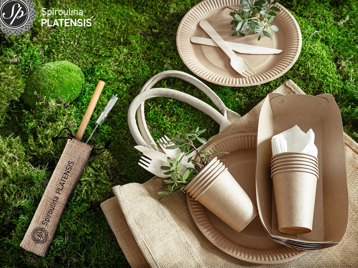 ανακυκλώσιμα προϊόντα σε πράσινο φόντο